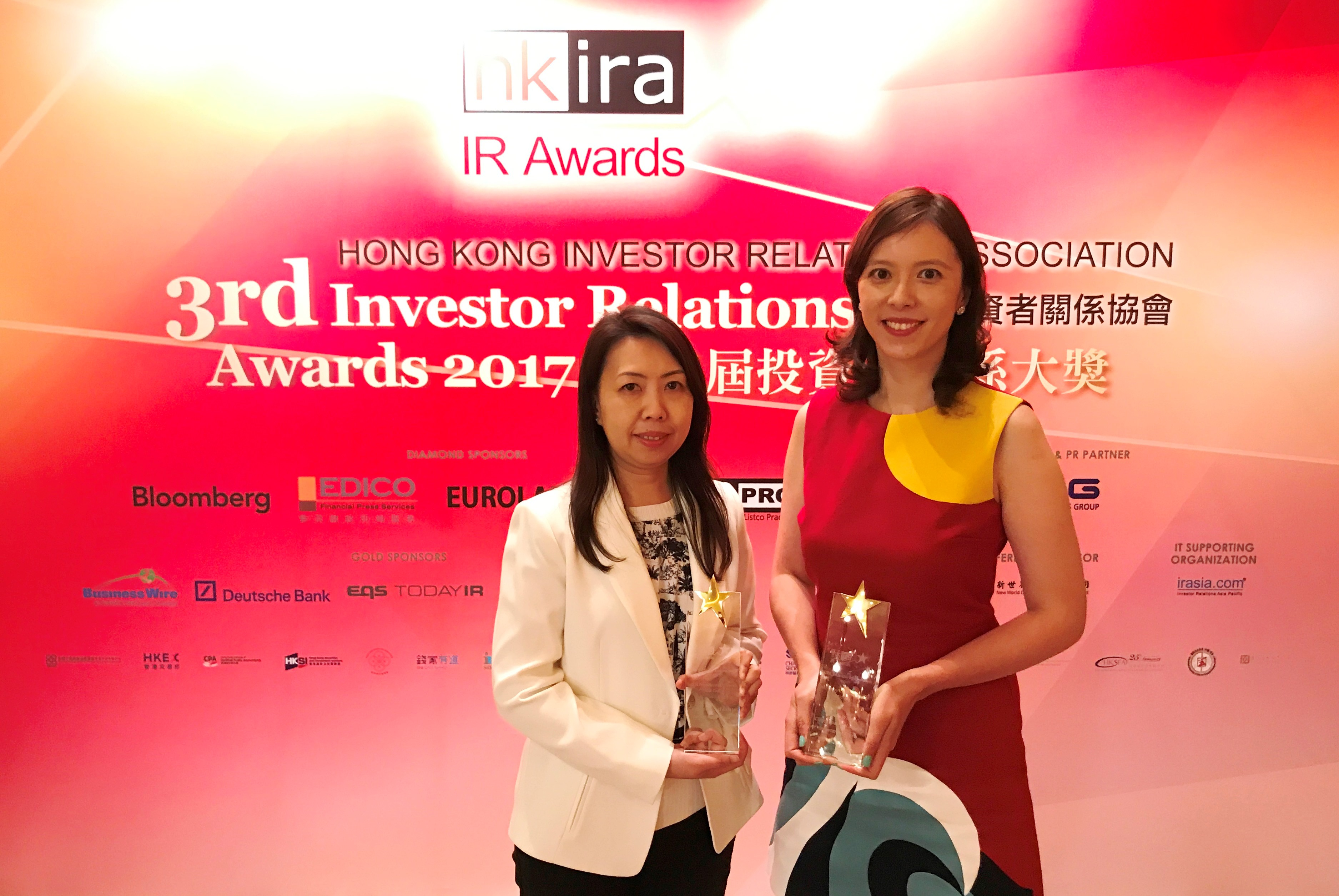 Champion REIT Bags Five Awards at HKIRA 3rd Awards & Corporate Governance Asia 7th Asian Excellence Award