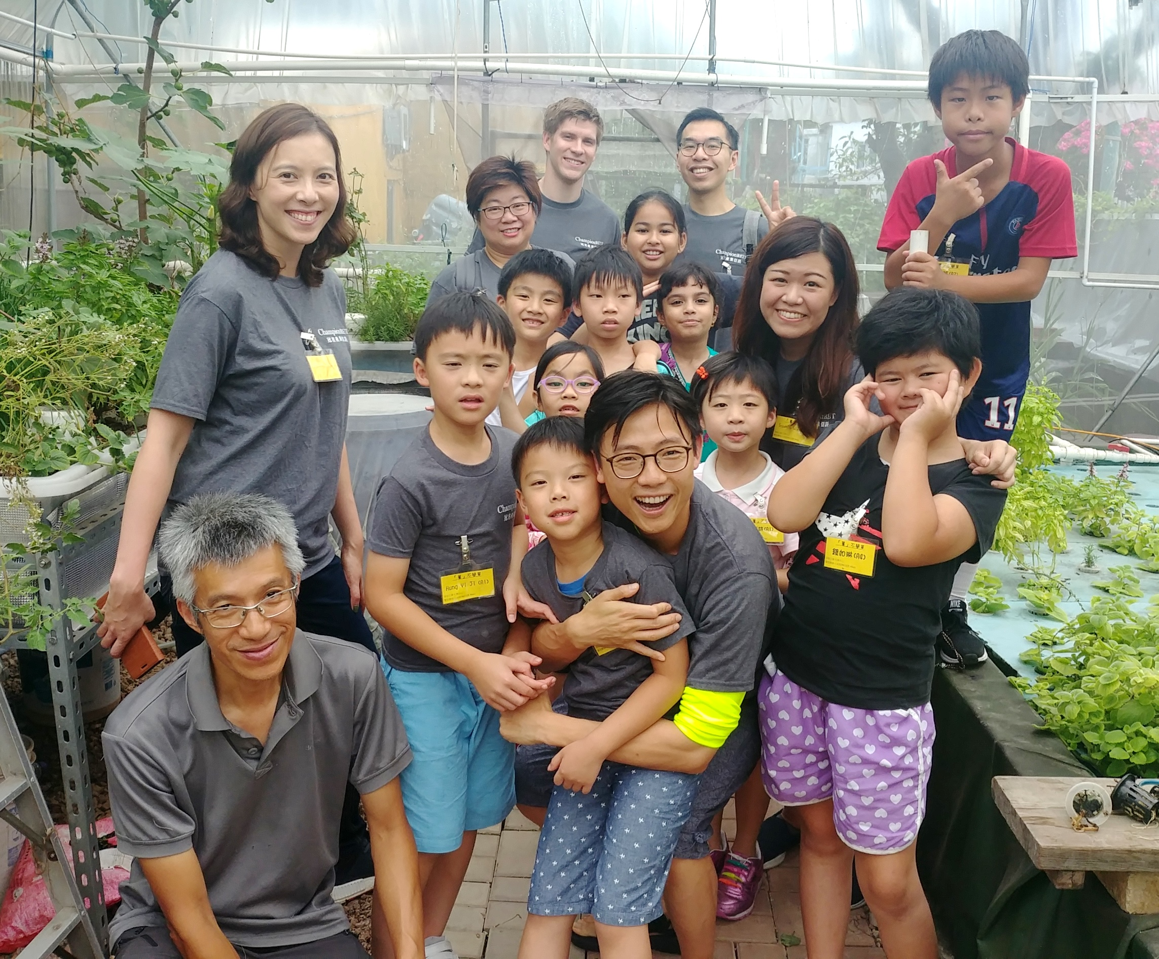 Visiting Tai O Fish Plant with underprivileged children